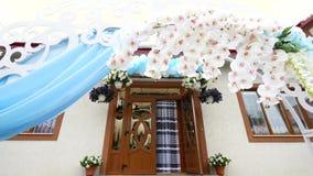 一个婚礼的装饰在一个围场 影视素材