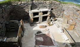 一个客厅在一个史前村庄 图库摄影