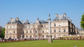 一个宫殿在卢森堡公园 免版税库存图片