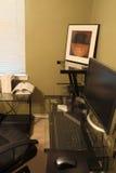 一个家庭办公室 图库摄影
