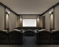 一个家庭影院的内部 免版税图库摄影