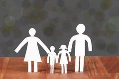 一个家庭 免版税库存照片