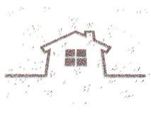 一个家的例证有人的 免版税图库摄影