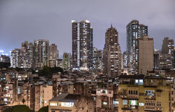 一个密集的住宅区在澳门 库存图片