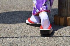 一个对传统日本鞋子 图库摄影