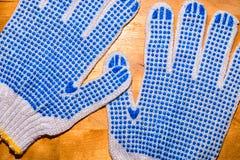 一个对工作手套 免版税库存图片