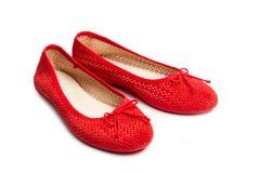 一个对红色鞋子 免版税库存图片