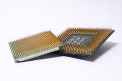 一个对计算机芯片 免版税库存照片