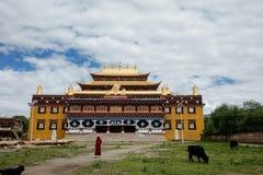 一个寺庙在四川,中国 库存图片