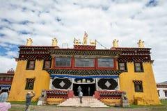 一个寺庙在四川,中国 免版税库存照片