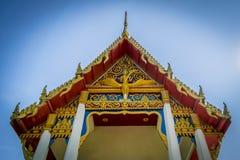 一个寺庙的屋顶在泰国 免版税库存照片