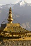 一个寺庙的屋顶在Leh, Ladakh的 库存照片