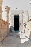 一个寺庙的废墟在埃及 免版税库存图片