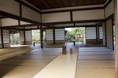 一个寺庙的Tatami空间在日本 库存图片