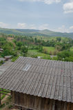 一个小乡村在清迈府 库存图片