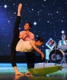一个小伞爵士乐舞蹈 库存图片