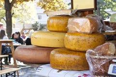 从一个小农场的乳酪 库存照片