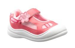 一个小可爱的女孩的鞋子 库存照片