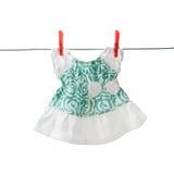一个小女孩的夏天衣裳 免版税图库摄影