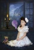 一个小女孩的梦想 免版税库存照片