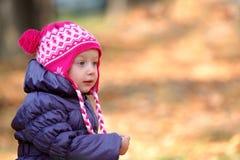一个小女孩的纵向 库存图片