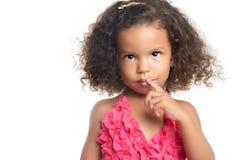 一个小女孩的画象有一种非洲的发型的 库存图片