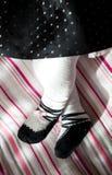 一个小孩子的脚有微小的手指的 免版税图库摄影