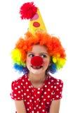 一个小小丑的纵向 免版税库存照片
