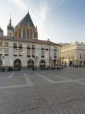 一个小市场在克拉科夫 免版税库存照片