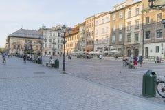一个小市场在克拉科夫 库存图片