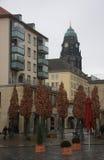 一个小庭院在德累斯顿,德国的中心 2013年1月7日 免版税库存图片
