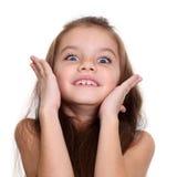 一个小惊人的女孩的画象 库存照片