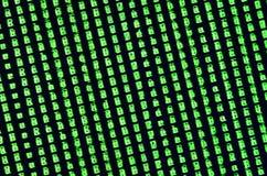 一个小故障的宏观射击在办公计算机的显示器的 介绍病毒的概念入一位个人数据老板 Strea 库存图片