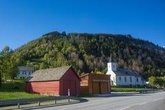 一个小村庄在挪威 库存图片