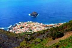 一个小村庄的概略的看法在特内里费岛 免版税库存图片
