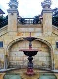 一个小活跃喷泉的图象 库存图片