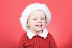一个小男孩的画象圣诞节时间的 免版税库存图片