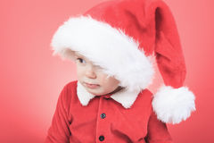 一个小男孩的画象圣诞节时间的 库存图片