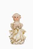一个小的天使的小雕象 库存照片