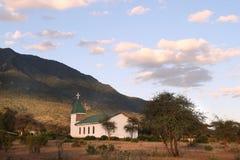 一个小的教会在Longido城镇 免版税库存照片