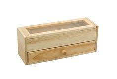 一个小的木机柜 免版税库存照片