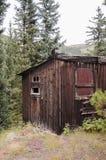 一个小的棚子在圣Elmo,科罗拉多镇  库存照片