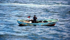 一个小的渔船 图库摄影