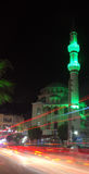 一个小的镇的地方清真寺在晚上 图库摄影