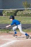 一个小职业棒球联盟球员 库存照片