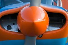 一个小航空器的推进器引擎 库存图片