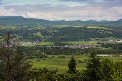 一个小镇的巨大看法 库存图片