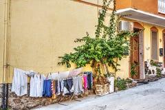 一个小镇的瞥见在撒丁岛 免版税图库摄影