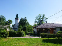 一个小镇的风景 免版税库存照片