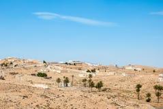 一个小阿拉伯镇 免版税库存照片